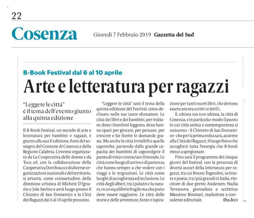 Gazzetta del Sud 07-02-2019
